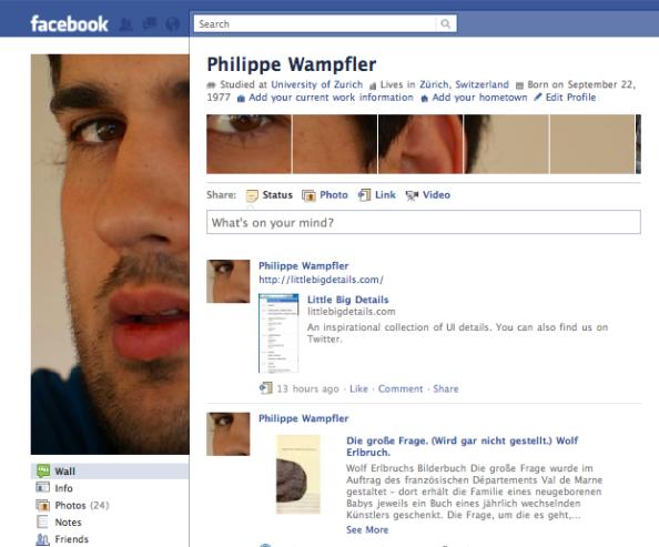 Facebook Philippe Wampfler, Januar 2011