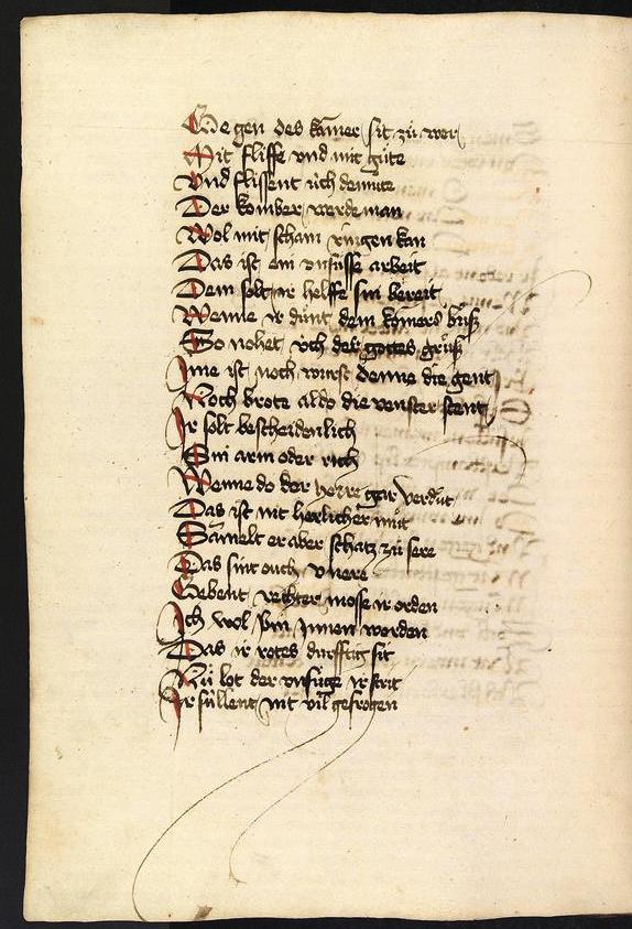 S 182r aus der Heidelberger Parizval Handschrift